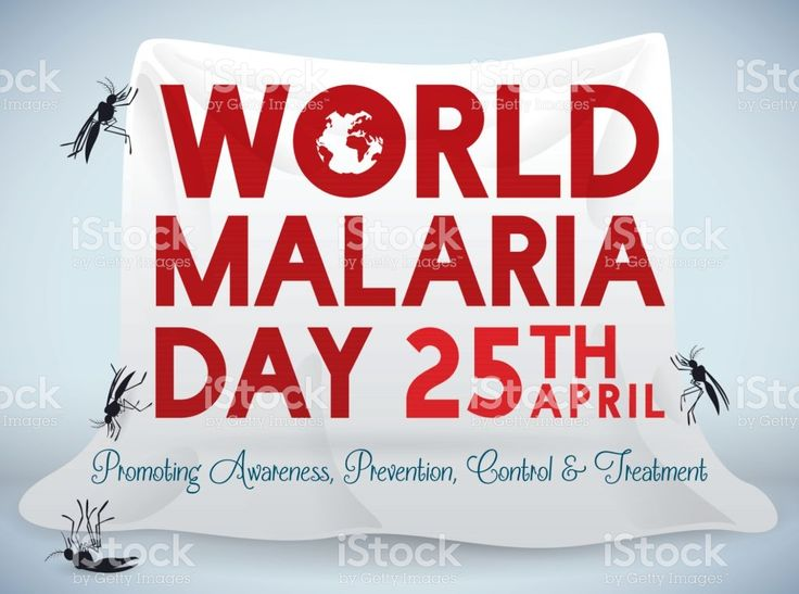 Poster for World Malaria Day Celebration with Mosquito Net