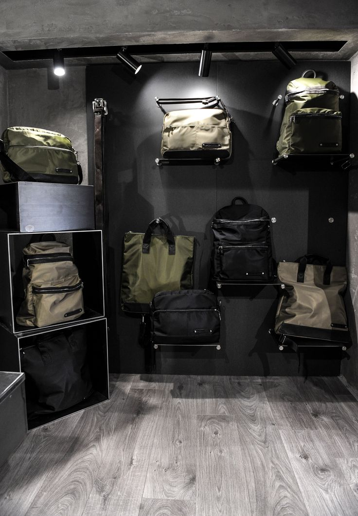 Our bag wall in our new store #policelifestyle