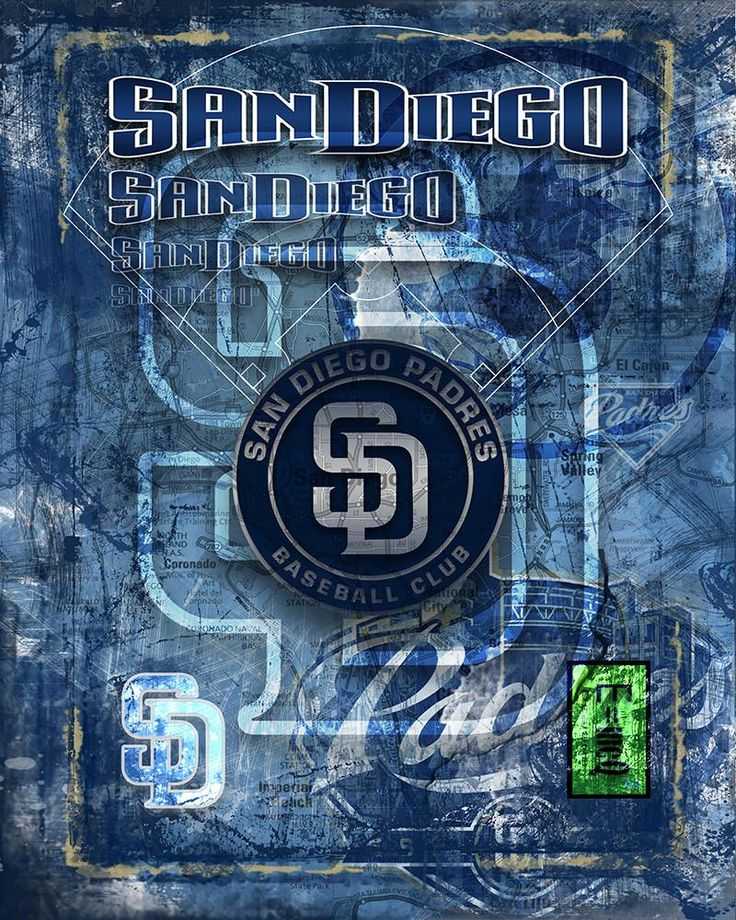 San Diego Padres Poster, San Diego Padres Artwork Gift, Padres Layered                      – McQDesign