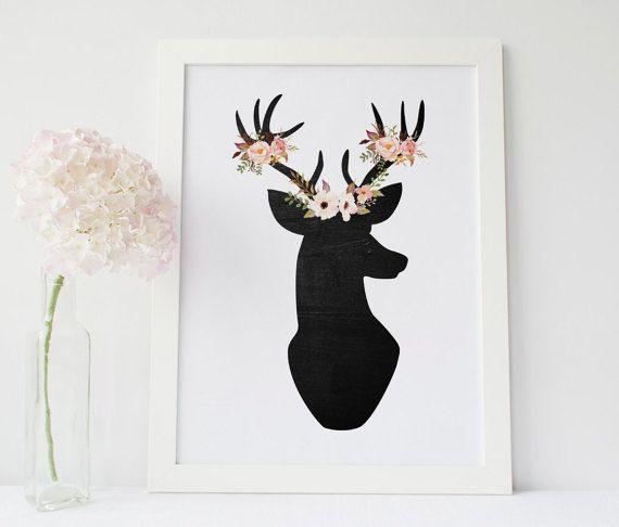 Deer Wall Art best 25+ deer print ideas only on pinterest | woodland decor