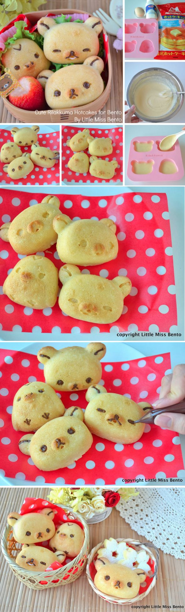 // Rilakkuma Hotcakes Recipe for Bento! //