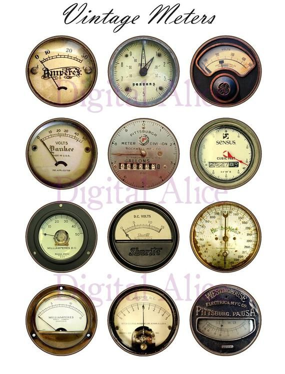 00c9c760ef555 VINTAGE METERS and GAUGES Craft Circles - Industrial Dials and Gages ...