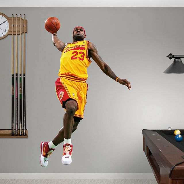 LeBron James Throwback - 2009 MVP REAL.BIG. Fathead Wall Graphic | Cleveland Cavaliers Wall ...