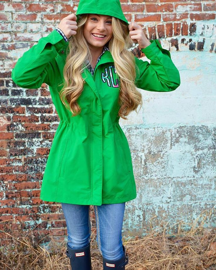 Lilly Pulitzer Monogrammed Logan Rain Jacket by TantrumEmbroidery on Etsy