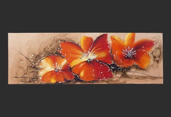 Quadro Moderno 'Tulipano Arancio'