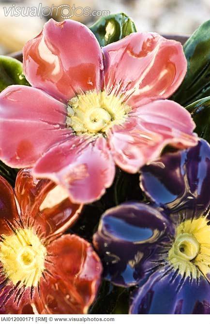 Ceramic flowers - OMG!  Beautiful