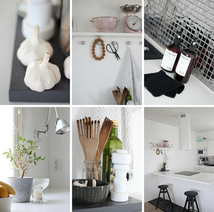 Yksilöllinen Herrala-koti – keittiö täynnä pieniä ihania asioita