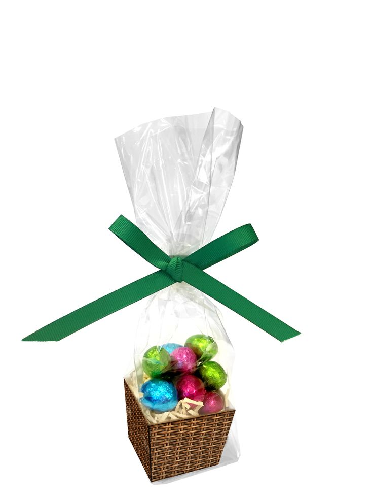 Foiled Eggs In Card Basket