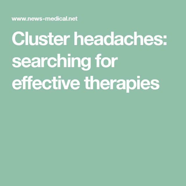 Cluster headaches: searching for effective therapies
