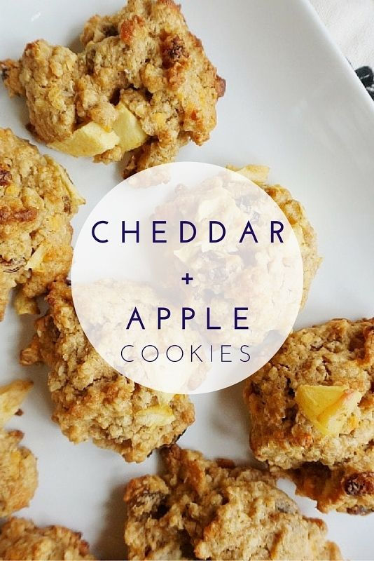cheddar and apple cookies // healthy desserts // fall desserts
