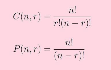Combinations and Permutations: What's the Difference?: Formulas for combinations and permutations