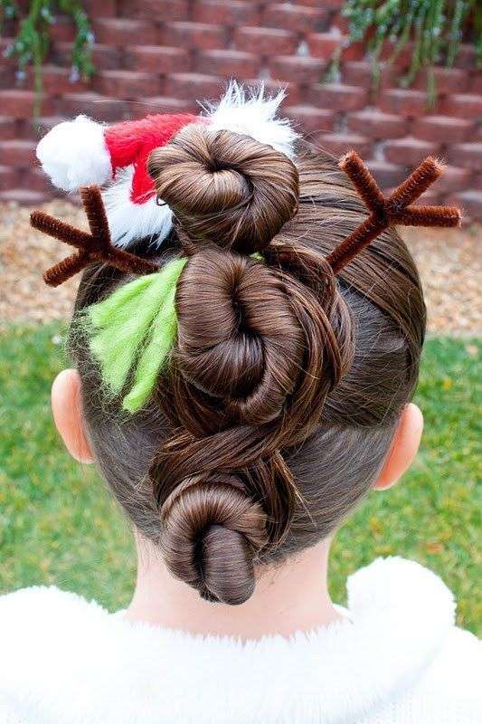 Christmas Hairstyles For Kids.24 Easy Christmas Hairstyles For Girls Hair Holiday