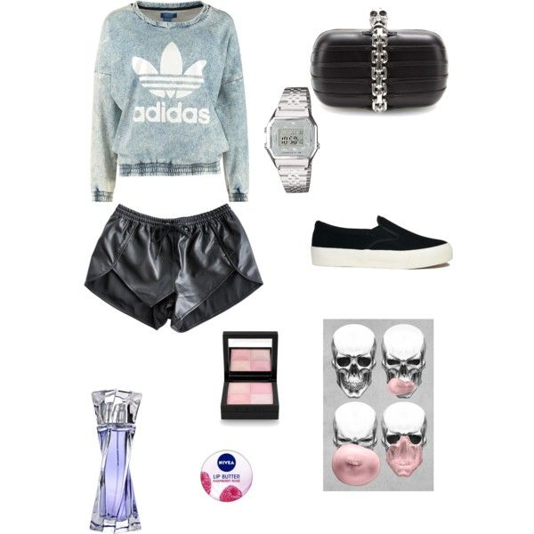 A fashion look from November 2014 featuring adidas Originals sweatshirts, Finders Keepers shorts and ASOS sneakers. Browse and shop related looks.