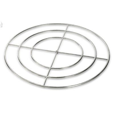 "American Fireglass Triple Stainless Steel Fire Pit Ring Burner (Set of 6) Size: 1"" H x 48"" W x 48"" D"