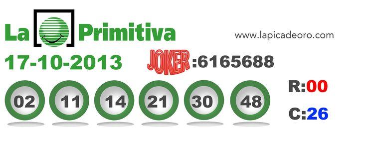 Resultados Primitiva 17/10/2012