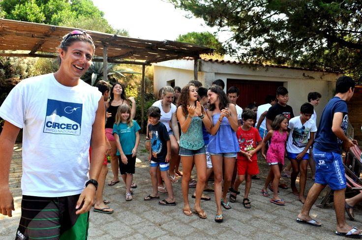 Giochi in Foresteria #7. Fabio Polidoro 'Capitano dei giochi' sembra soddisfatto... ;) #ventotene #divertirsi #ragazzi #estate