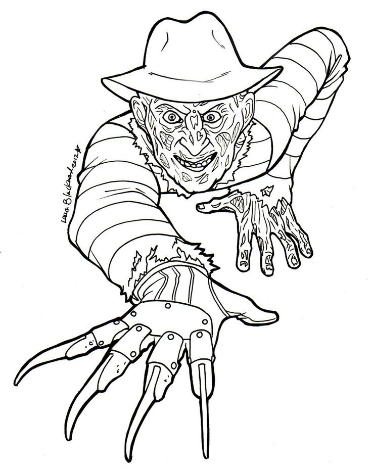 66 best Horror Coloring Pages images on Pinterest Adult coloring