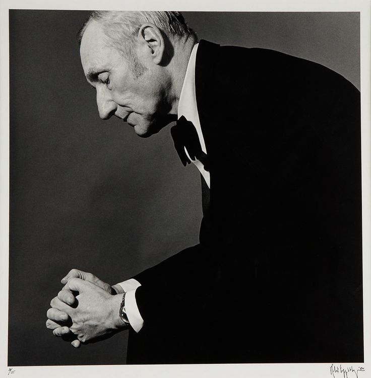 William Burroughs by Robert Mapplethorpe.  American novelist, short story writer, essayist and spoken word performer.
