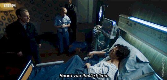 Sherlock heard you the first time animated gif