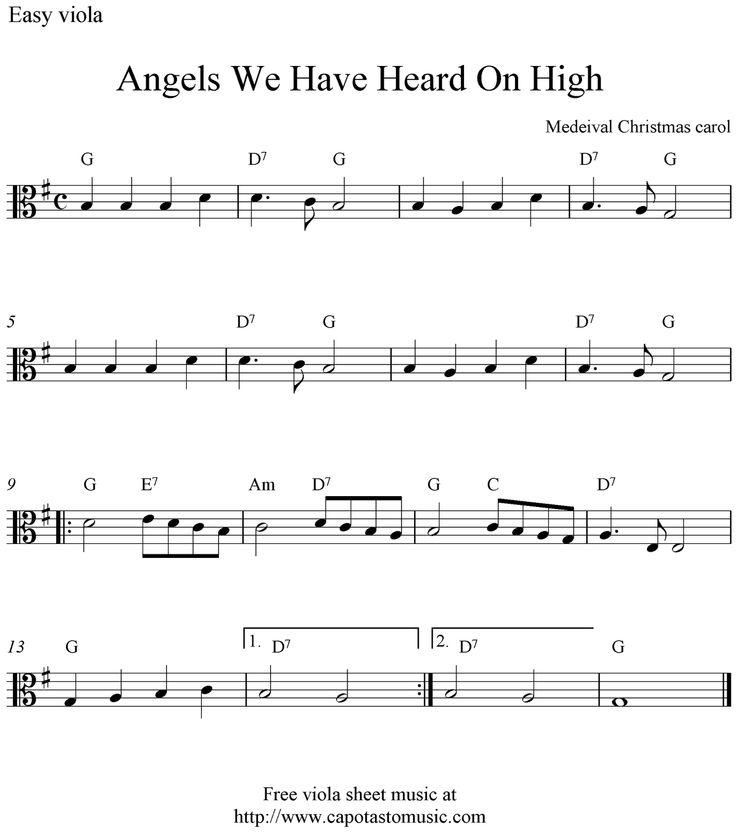 Christmas Viola Sheet Music - Szukaj W Google