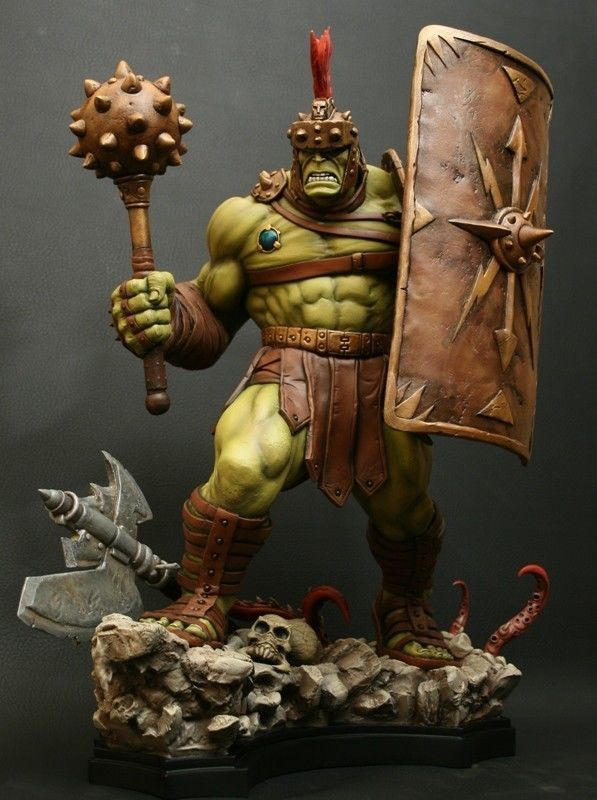 SIGNED and SKETCHED BOWEN DESIGNS PLANET HULK STATUE PLANET AVENGERS SIDESHOW