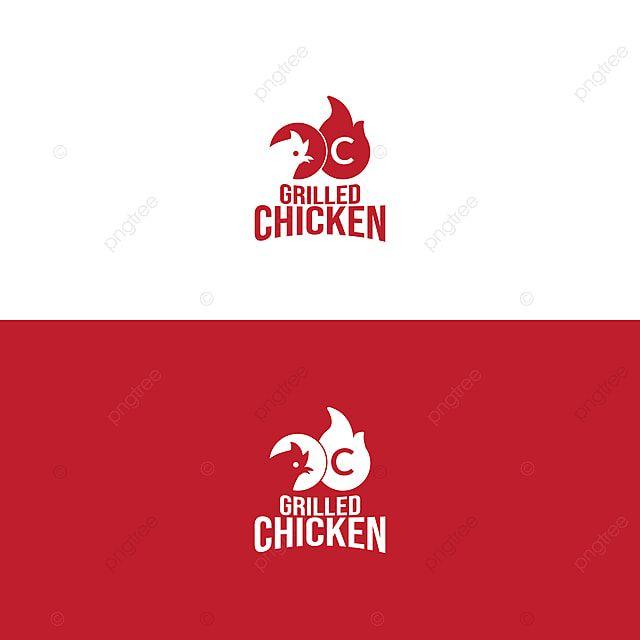 شعار مطعم دجاج مشوي Grill Logo Grilled Chicken Chicken