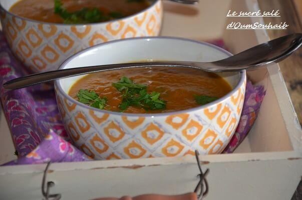 soupe de patate douce lait de coco curry et gingembre, un savoureux velouté ou soupe de patate douce au lait de coco et parfumé au curry