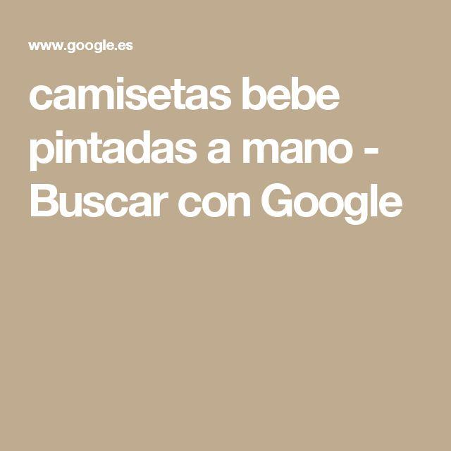 camisetas bebe pintadas a mano - Buscar con Google
