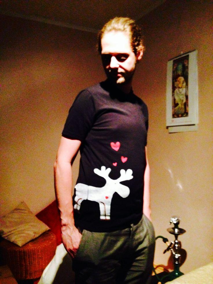 Vlastnoručne vyrobené tričko so sobom :)