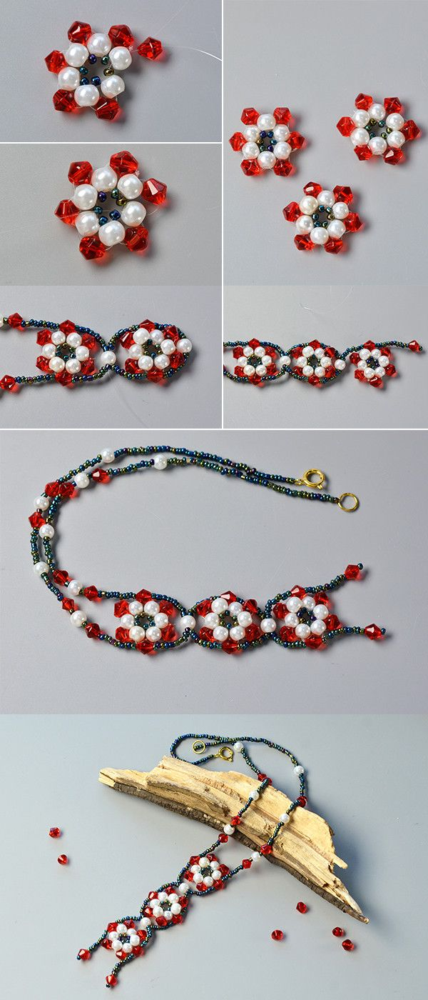 Like the glass and pearl beads necklace?The tutorial will be published by LC.Pandahall.com soon.