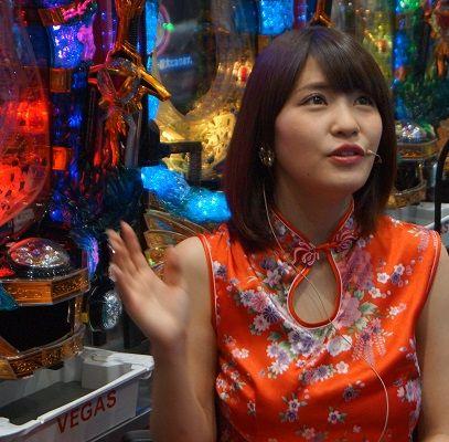 とっても素敵な明日香さん、チャイナ姿が似合ってます(^^) #vegas1200 #岸明日香 #パーラージャンバリ