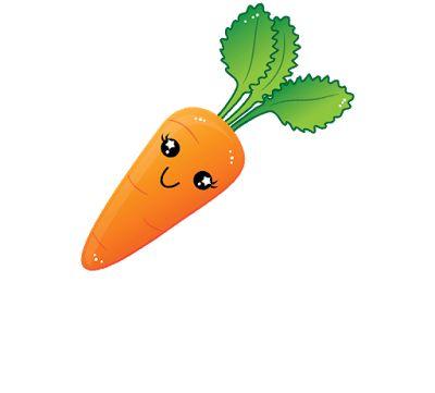 clipart gambar kartun wortel cantik