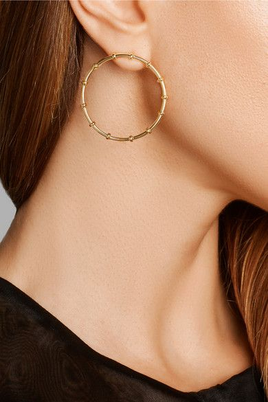 Arme De L'Amour | Bamboo gold-plated hoop earrings | NET-A-PORTER.COM