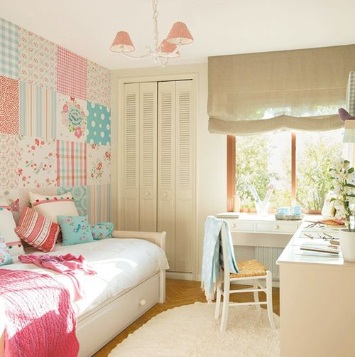 Small Cozy Bedroom For Girls Bewitching Pink Wallpaper In: 25 Best Dormitorio Miranda Images On Pinterest