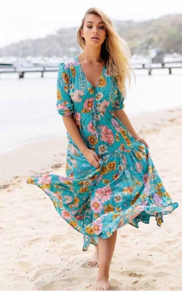 5e0f3c848 Jaase Maxi dress women's ladies boho long Jaase kelsey janis print #Jaase