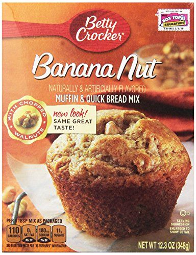 Betty Crocker Premium Muffin Mix Banana Nut 155Ounce Boxes Pack of 12 *** Want to know more, click on the image.(This is an Amazon affiliate link and I receive a commission for the sales)