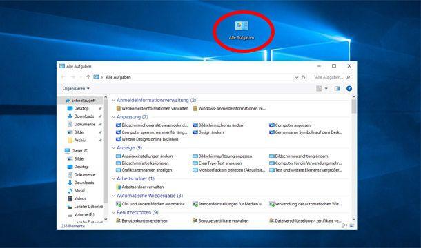 Windows 10 Hat Einen Versteckten Gott Modus Tipps Furs Leben Startbildschirm Microsoft Windows 10