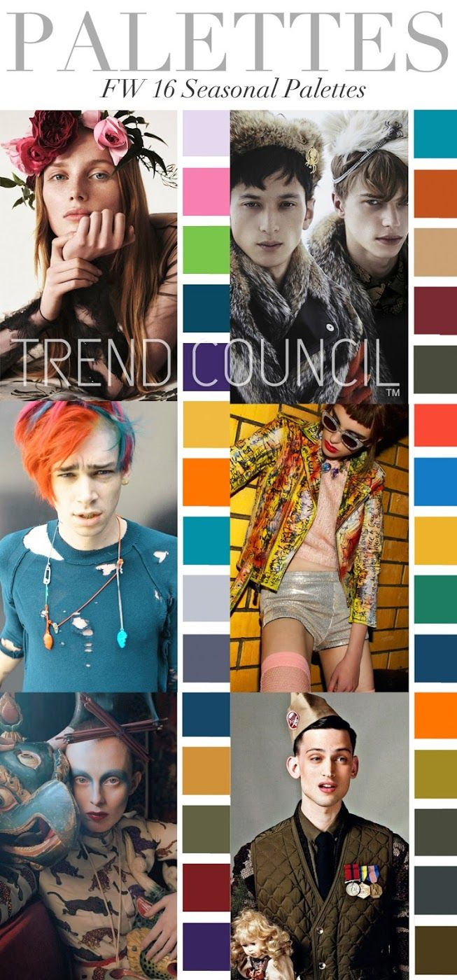 TRENDS // TREND COUNCIL - WOMEN'S AND MEN'S COLOR TRENDS . F/W 2016