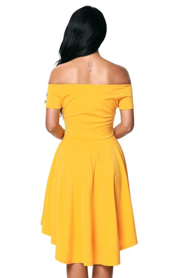 72805f98629 All The Rage Skater Dress - Off the shoulder dress