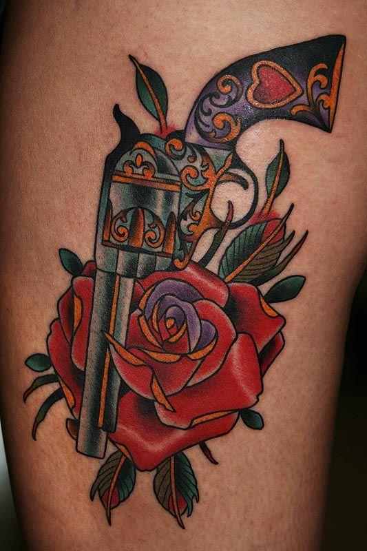 gun & roses Tattoo Designs   Gun Rose Tattoo Picture Last Sparrow - Free Download Tattoo #13352 Gun ...
