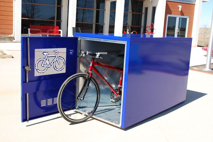 Madrax MadLocker bike locker! A great and durable way to store bikes, with a large variety of configurations and options!