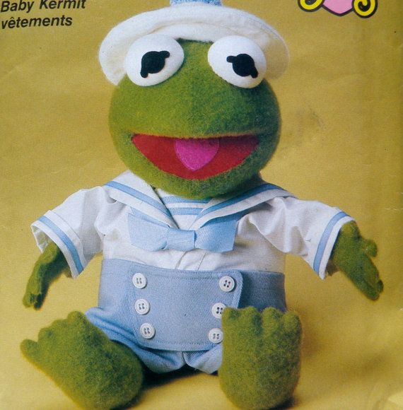 Muppet Babies Baby Kermit Clothes Pattern Sailor Outfit