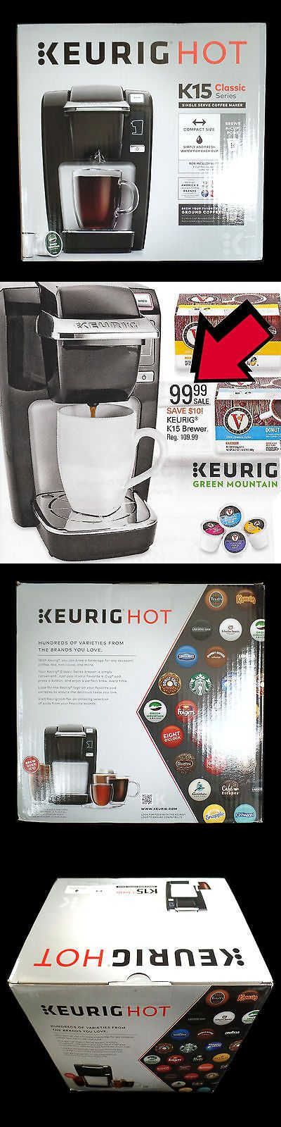 Single Serve Brewers 156775: Keurig K-Cup Single Serve Coffee Maker K15 Classic Black New In Box -> BUY IT NOW ONLY: $74.1 on eBay!
