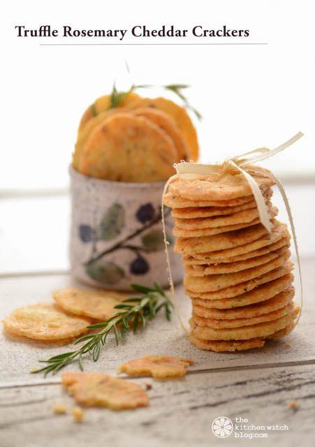 Truffle Rosemary Cheddar Crackers©RhondaAdkinsPhotography2015