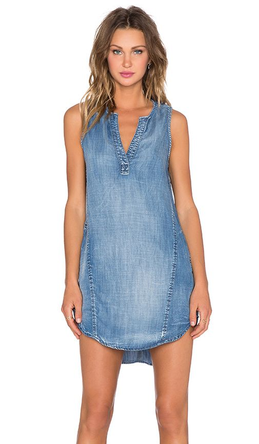 Bella Dahl Sleeveless Seams Dress in Weathered Wash | REVOLVE