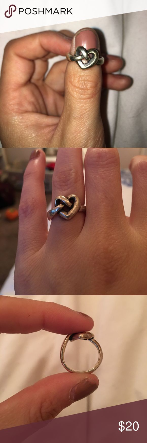 james avery rings james avery wedding bands Heart Knot James Avery ring Worn but still in good condition will be cleaned and