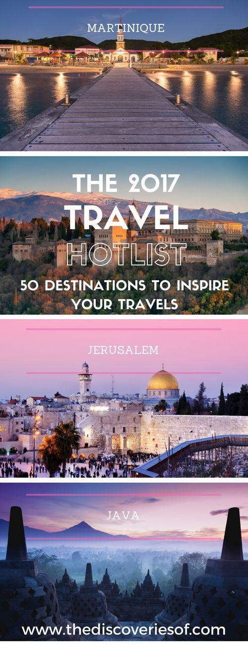 We've scoured the world to find the hottest travel destinations for 2017. Looking for travel inspiration? Click Here
