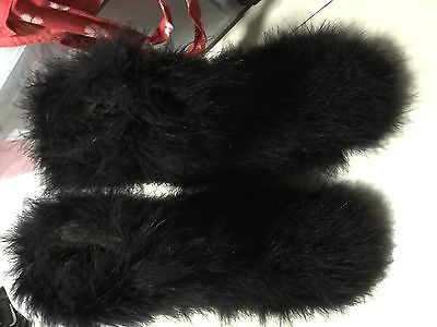 Mujeres-felpa-Invierno-Botas-caliente-esquimales-avestruz-pelo-mullido-Botas-Negro-albaricoque-Dis