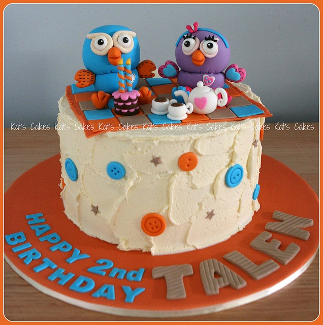 Hoot & Hootabelle Cake by Kat's Cakes