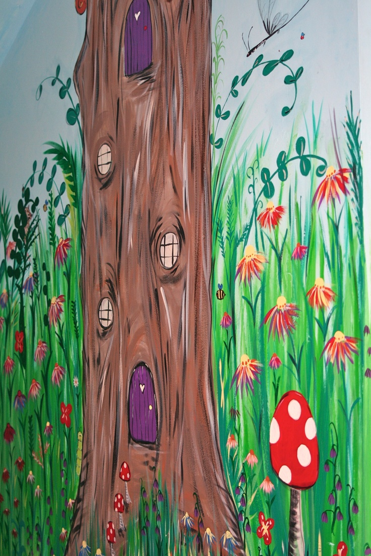 Best 25 garden mural ideas on pinterest mural painting for Fairy garden mural